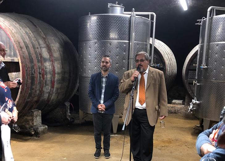 Szymczak Vince: A Pécsi Tudományegyetem szüreti szőlőfajta bemutatója