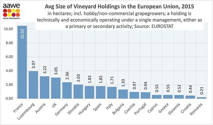 Mekkora az átlagos szőlőbirtokméret Magyarországon?