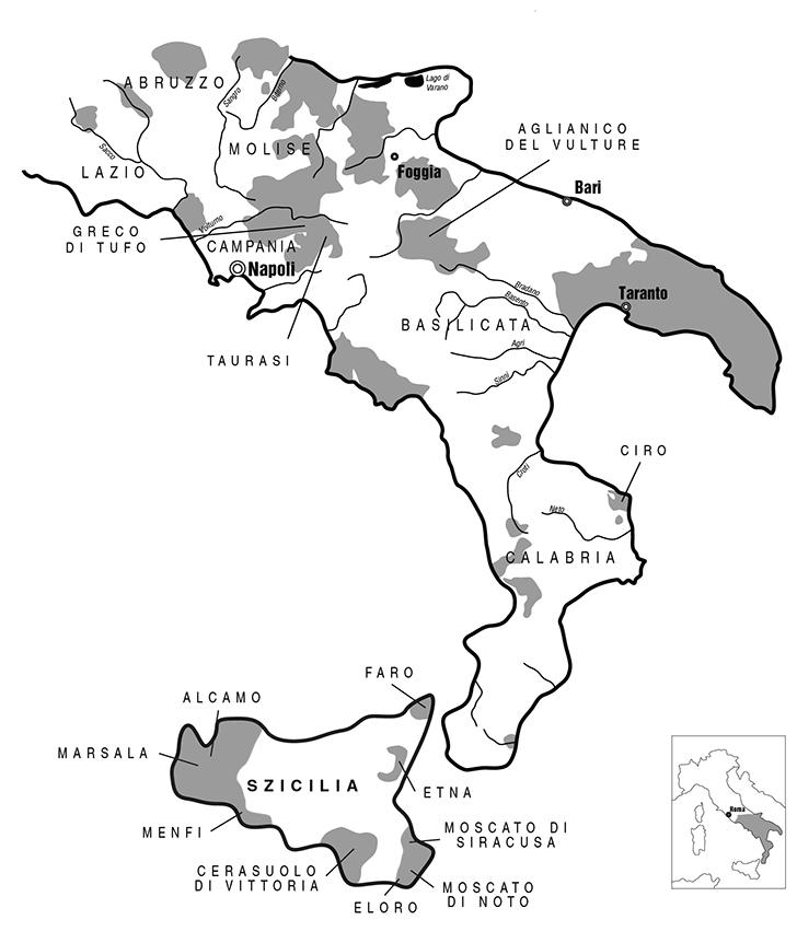 Dél-Olaszország és a szigetek